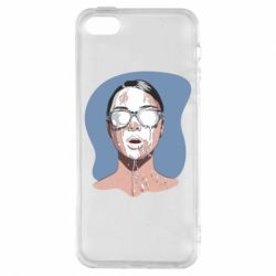 Чохол для iphone 5/5S/SE The girl is doused with milk