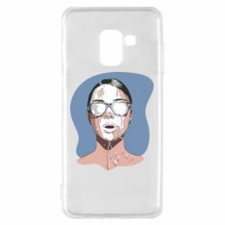 Чохол для Samsung A8 2018 The girl is doused with milk