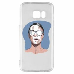 Чохол для Samsung S7 The girl is doused with milk