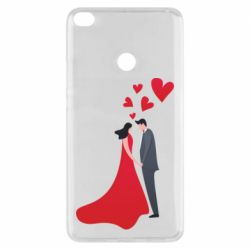 Чехол для Xiaomi Mi Max 2 The guy and the girl in the red dress love