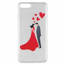 Чехол для Xiaomi Mi Note 3 The guy and the girl in the red dress love