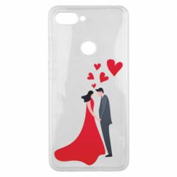 Чехол для Xiaomi Mi8 Lite The guy and the girl in the red dress love