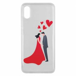 Чехол для Xiaomi Mi8 Pro The guy and the girl in the red dress love