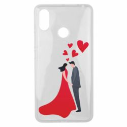 Чехол для Xiaomi Mi Max 3 The guy and the girl in the red dress love