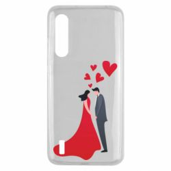 Чехол для Xiaomi Mi9 Lite The guy and the girl in the red dress love