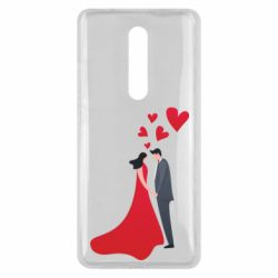 Чехол для Xiaomi Mi9T The guy and the girl in the red dress love