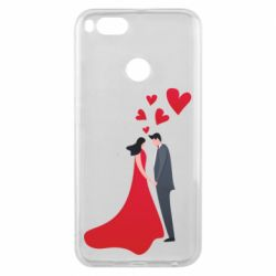 Чехол для Xiaomi Mi A1 The guy and the girl in the red dress love