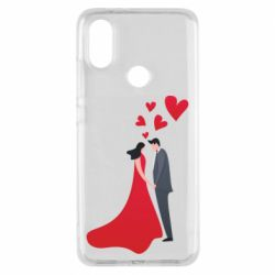 Чехол для Xiaomi Mi A2 The guy and the girl in the red dress love