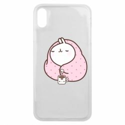 Чехол для iPhone Xs Max The Hare in the blanket