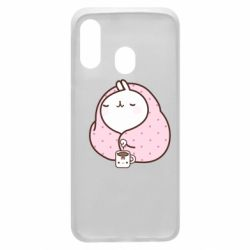 Чехол для Samsung A40 The Hare in the blanket