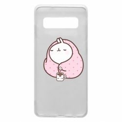Чехол для Samsung S10 The Hare in the blanket