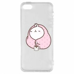 Чехол для iPhone5/5S/SE The Hare in the blanket