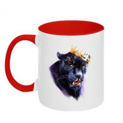 Кружка двоколірна 320ml The King of Panthers