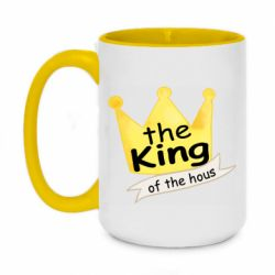 Кружка двоколірна 420ml The king of the house