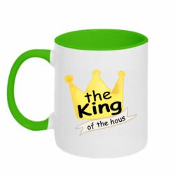 Кружка двоколірна 320ml The king of the house