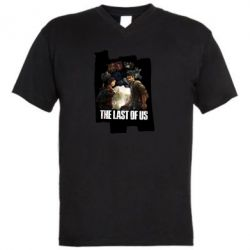 Чоловіча футболка з V-подібним вирізом The last of us heroes