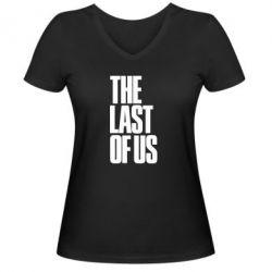 Жіноча футболка з V-подібним вирізом The Last of Us