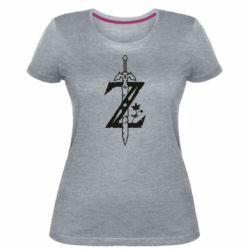 Женская стрейчевая футболка The Legend of Zelda Logo