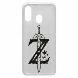 Чехол для Samsung A40 The Legend of Zelda Logo