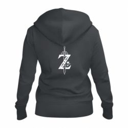 Женская толстовка на молнии The Legend of Zelda Logo