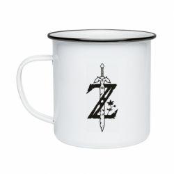 Кружка емальована The Legend of Zelda Logo