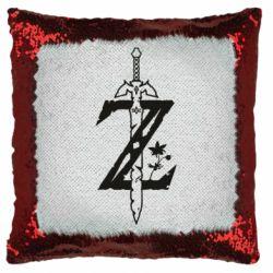 Подушка-хамелеон The Legend of Zelda Logo