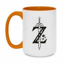 Кружка двоколірна 420ml The Legend of Zelda Logo