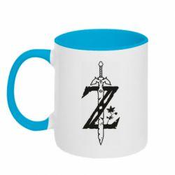 Кружка двоколірна 320ml The Legend of Zelda Logo