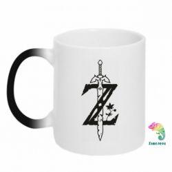 Кружка-хамелеон The Legend of Zelda Logo