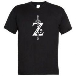 Мужская футболка  с V-образным вырезом The Legend of Zelda Logo