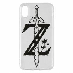 Чехол для iPhone X/Xs The Legend of Zelda Logo