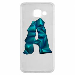 Чехол для Samsung A3 2016 The letter a is cubic