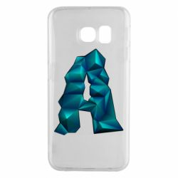 Чехол для Samsung S6 EDGE The letter a is cubic