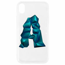 Чехол для iPhone XR The letter a is cubic