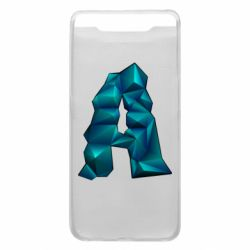 Чехол для Samsung A80 The letter a is cubic