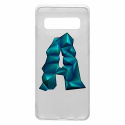 Чехол для Samsung S10 The letter a is cubic