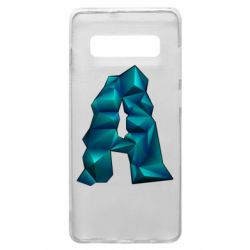 Чехол для Samsung S10+ The letter a is cubic
