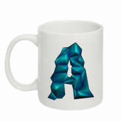 Кружка 320ml The letter a is cubic