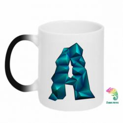 Кружка-хамелеон The letter a is cubic