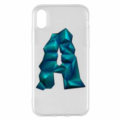 Чехол для iPhone X/Xs The letter a is cubic