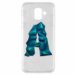 Чехол для Samsung A6 2018 The letter a is cubic
