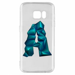 Чехол для Samsung S7 The letter a is cubic