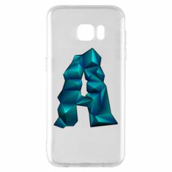 Чехол для Samsung S7 EDGE The letter a is cubic