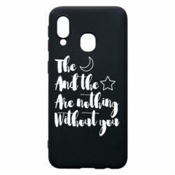Чохол для Samsung A40 The moon and the stars are nothing without you