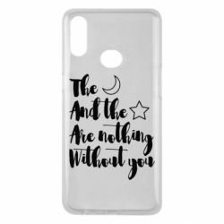 Чохол для Samsung A10s The moon and the stars are nothing without you