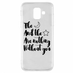 Купить Любовь и секс, Чехол для Samsung A6 2018 The moon and the stars are nothing without you, FatLine