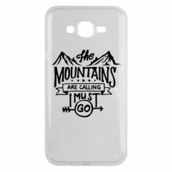 Чохол для Samsung J7 2015 The mountains are calling must go