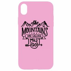 Чохол для iPhone XR The mountains are calling must go