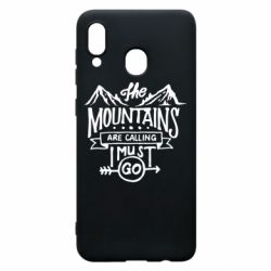 Чохол для Samsung A20 The mountains are calling must go