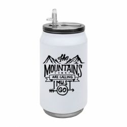 Термобанка 350ml The mountains are calling must go